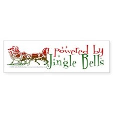 Powered By Jingle Bells Bumper Bumper Sticker