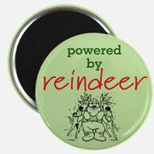 Powered By Reindeer Magnet
