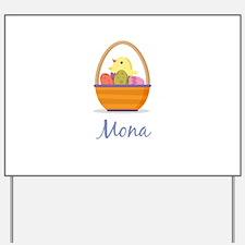 Easter Basket Mona Yard Sign