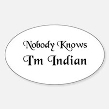 The Indian Oval Decal