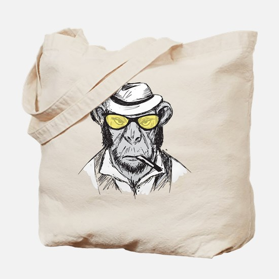 Funny Chimpanzees Tote Bag
