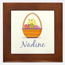 Easter Basket Nadine Framed Tile