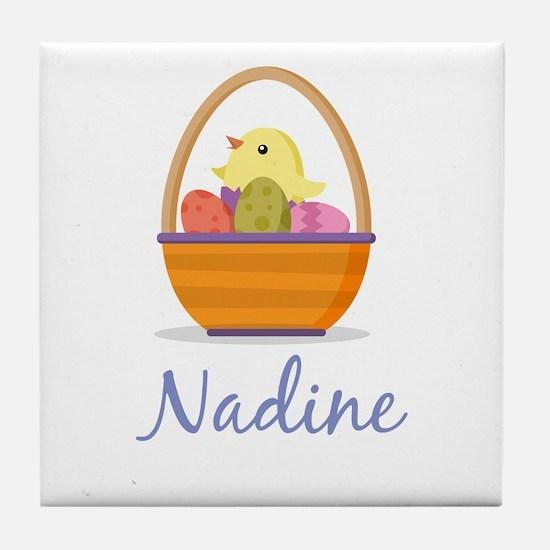 Easter Basket Nadine Tile Coaster