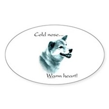 Shiba Warm Heart Oval Decal