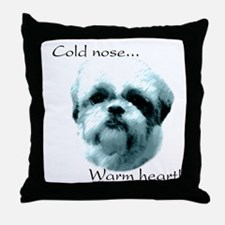 Shih Tzu Warm Heart Throw Pillow