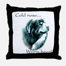 Tibetan Mastiff Warm Heart Throw Pillow