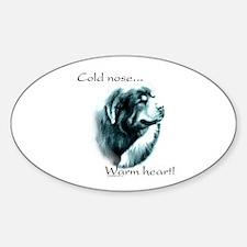 Tibetan Mastiff Warm Heart Oval Decal