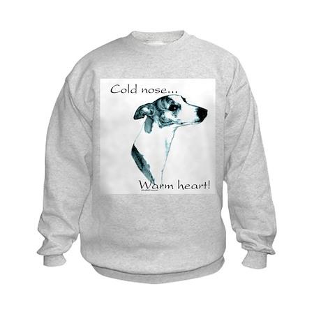 Whippet Warm Heart Kids Sweatshirt