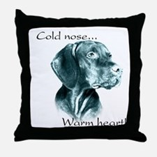 Vizsla Warm Heart Throw Pillow