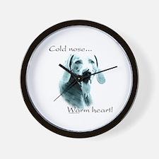 Weim Warm Heart Wall Clock