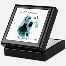 Weim Warm Heart Keepsake Box