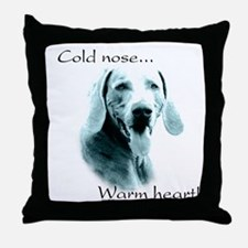 Weim Warm Heart Throw Pillow