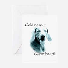Weim Warm Heart Greeting Cards (Pk of 10)