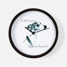 Whippet Warm Heart Wall Clock