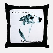 Whippet Warm Heart Throw Pillow