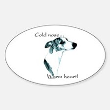 Whippet Warm Heart Oval Decal