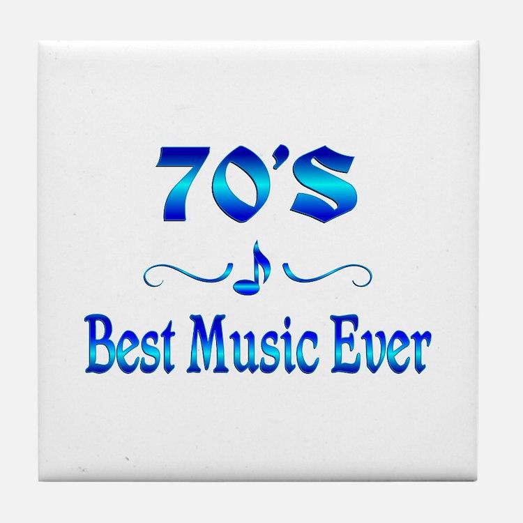70s Best Music Tile Coaster