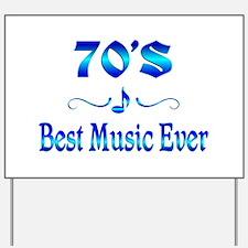70s Best Music Yard Sign