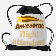 Awesome Flight Attendant Vintage Drawstring Bag