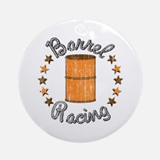 Retro Barrel Racing Ornament (Round)