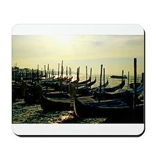 Gondolas at Sunrise in Venice Mousepad