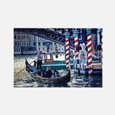 Gondola on Grand Canal in Ven Rectangle Magnet