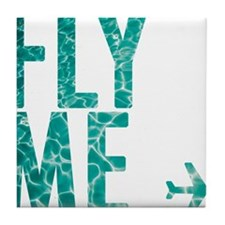 fly me Tile Coaster