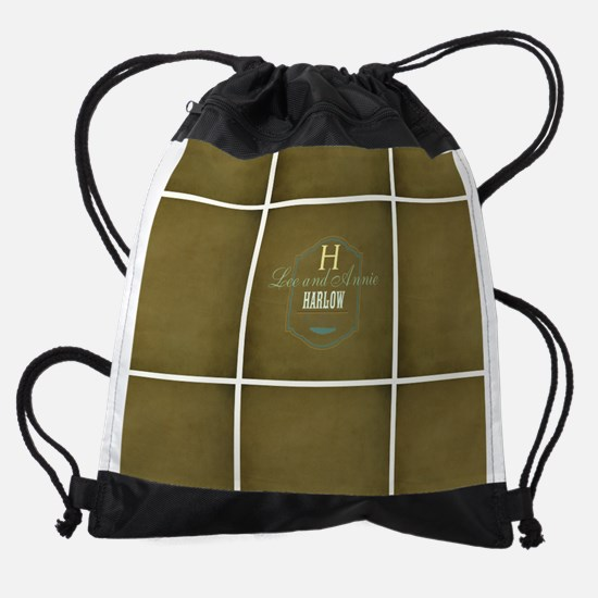 Personalize this Rustic Design Drawstring Bag