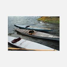 Greenland Kayak Rectangle Magnet