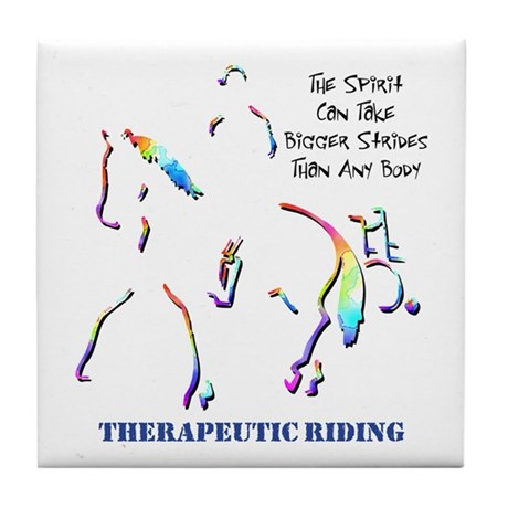 Therapeutic Riding Tile Coaster