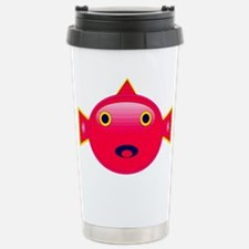 Blowfish cartoon style Travel Mug