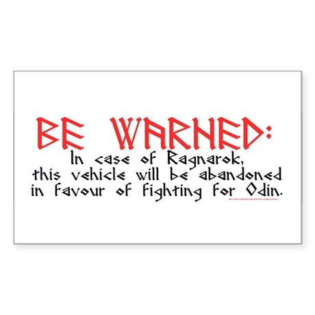 Ragnarok Rectangle Sticker
