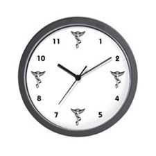 4 Chiropractic Caducei Wall Clock