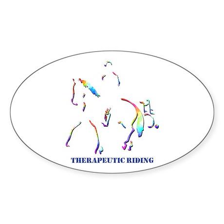 Therapeutic Riding Oval Sticker
