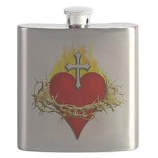Sacred Heart Flask