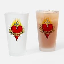 Sacred Heart Drinking Glass