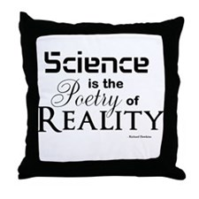 Science is Poetry Throw Pillow
