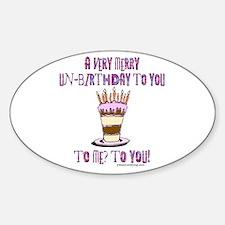 Un-Birthday Oval Decal