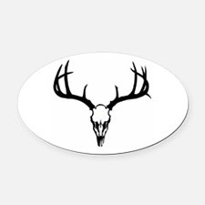 Deer Head Oval Car Magnet