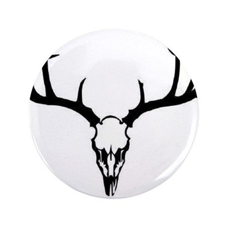 """Deer Head 3.5"""" Button (100 pack)"""