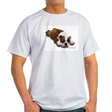 Bulldog Puppy 2 Ash Grey T-Shirt