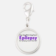 My daughter may have epilepsy Silver Round Charm