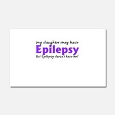 My daughter may have epilepsy Car Magnet 20 x 12