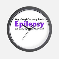 My daughter may have epilepsy Wall Clock