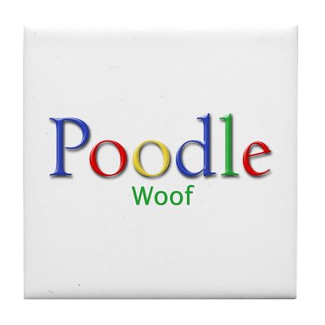 Poodle (Woof) Tile Coaster