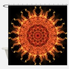 Flaming Mandala Shower Curtain