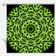 Kiwi Kaleidoscope Shower Curtain