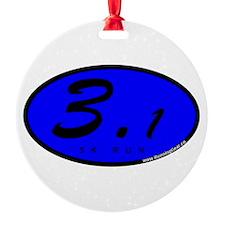 Blue Oval 3.1 Miles 5k Ornament