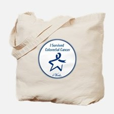 4 Words - I Survived Colorectal Cancer Tote Bag