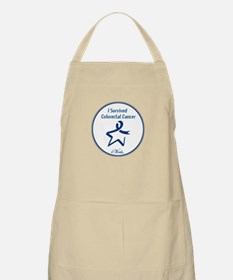 4 Words - I Survived Colorectal Cancer Apron